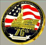 Pearl Harbor 76th Anniversary in Shiny Gold Tone