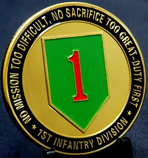1ST Infantry Division-No Mission Tood Difficult, No Sacrifice Too Great-Duty First