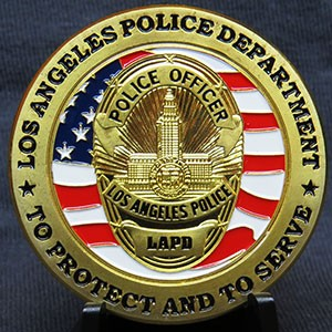LAPD Police Department Flag Badge
