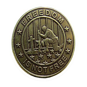 Freedom Is Not Free-Brass Antique