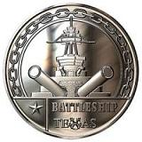 BATTLESHIP TEXAS - One Ounce .999 Silver