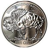 Buffalo Nickel - .999 One Troy Ounce Fine Silver