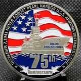 Pearl Harbor 75th Anniversary in Shiny Silver Tone