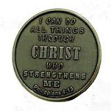 Philippians 4:13-Brass Antique